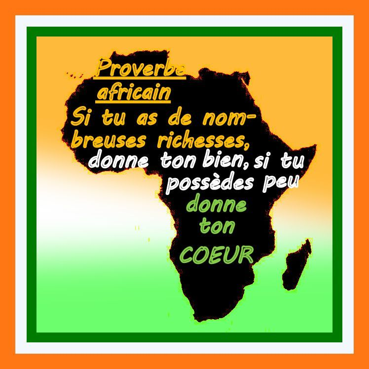 proverbe africain comme on dit