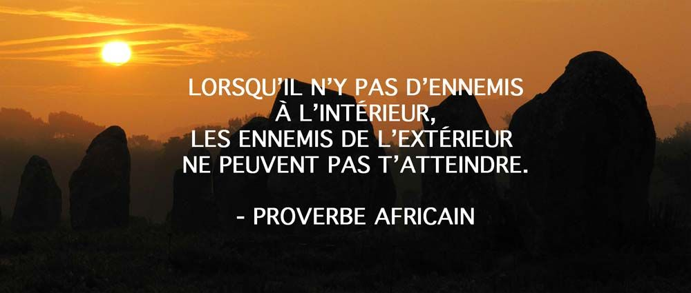 proverbe africain confiance