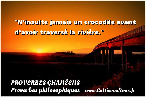 proverbe africain crocodile riviere