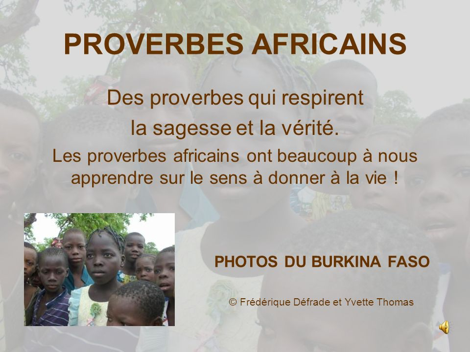 proverbe africain depart