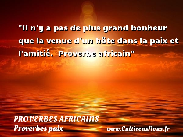 proverbe africain en amour