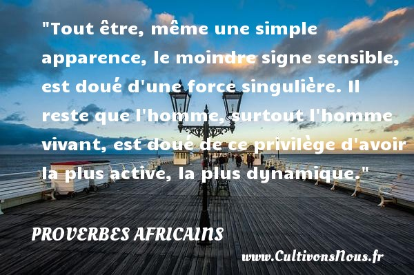 proverbe africain homme