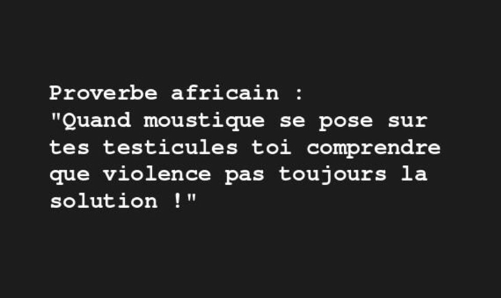 proverbe africain journaliste