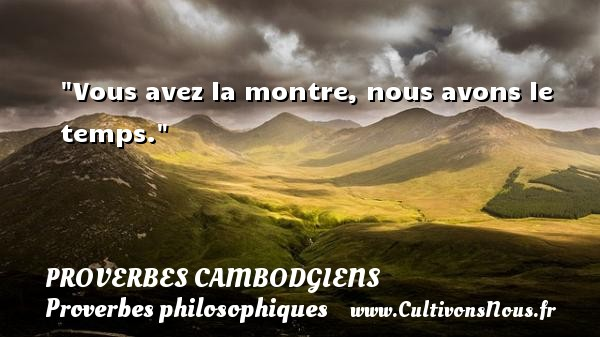 proverbe africain montre