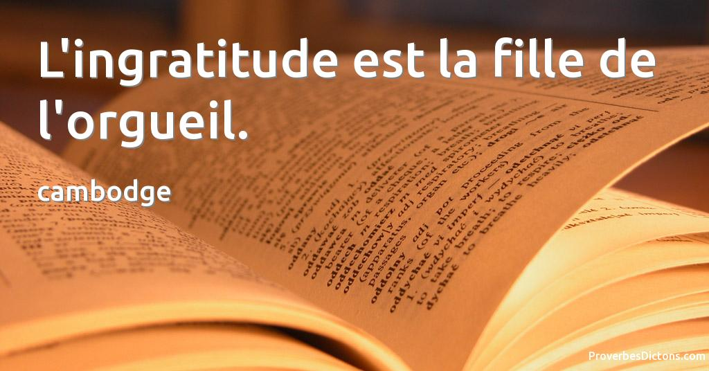 proverbe africain orgueil
