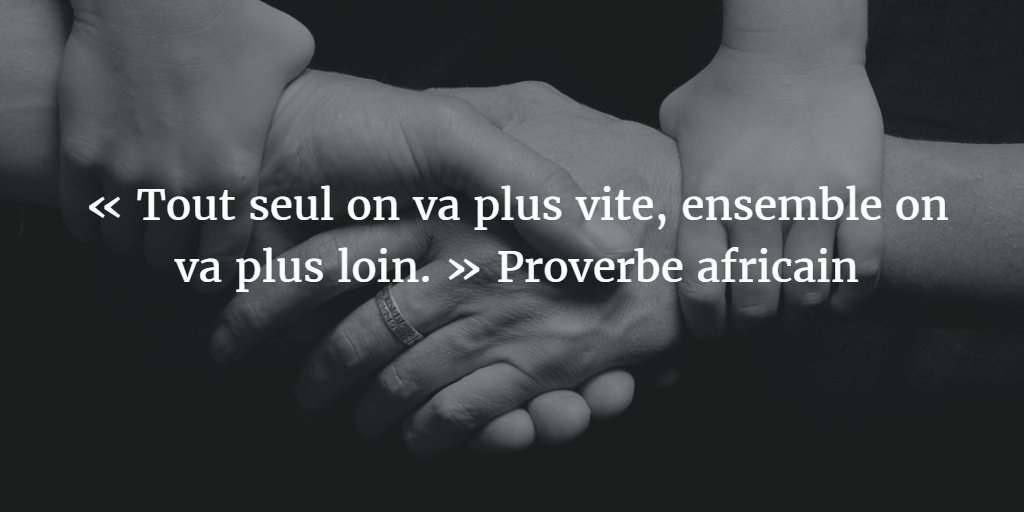 proverbe africain seul on va plus vite ensemble on va plus loin