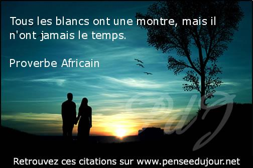proverbe africain temps montre
