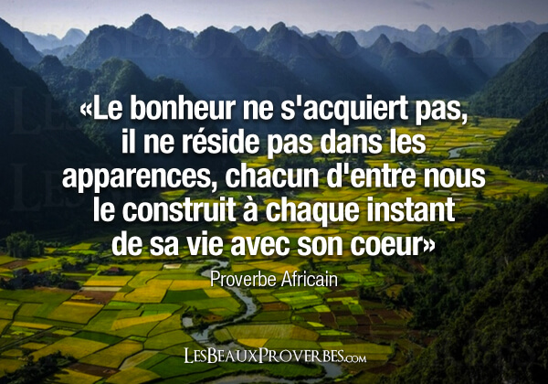 proverbe africain tristesse