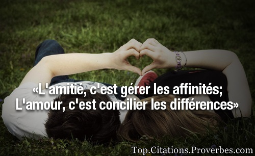 proverbe amour amis