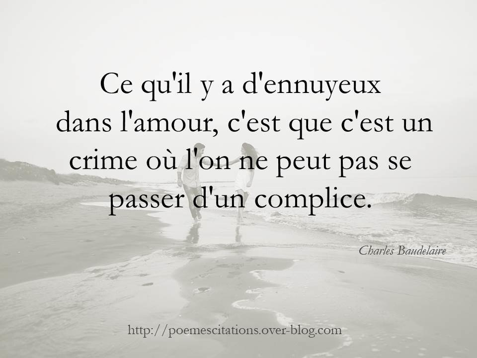 proverbe amour baudelaire