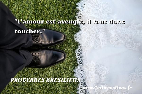 proverbe amour bresilien