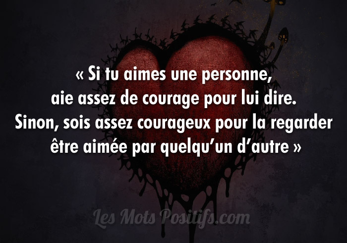 proverbe amour courage