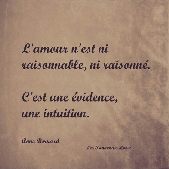 proverbe amour evidence