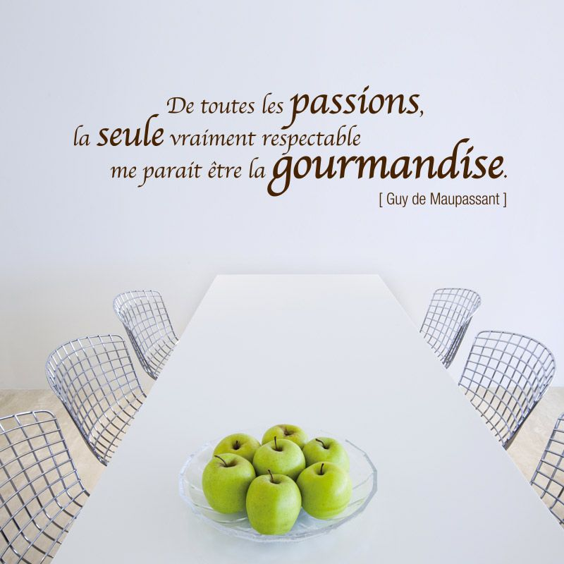 proverbe amour gourmandise