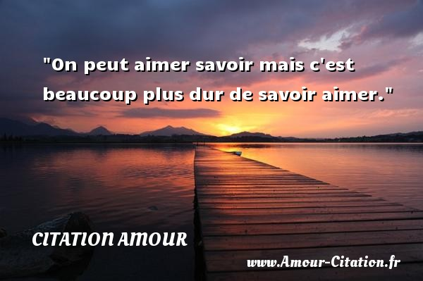 proverbe amour horizon