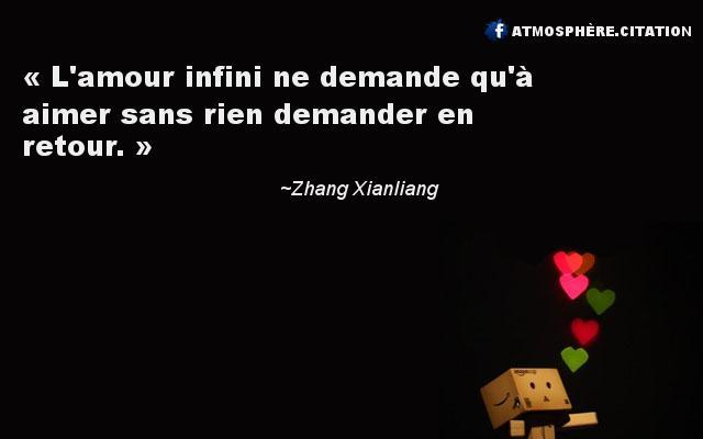 proverbe amour infini