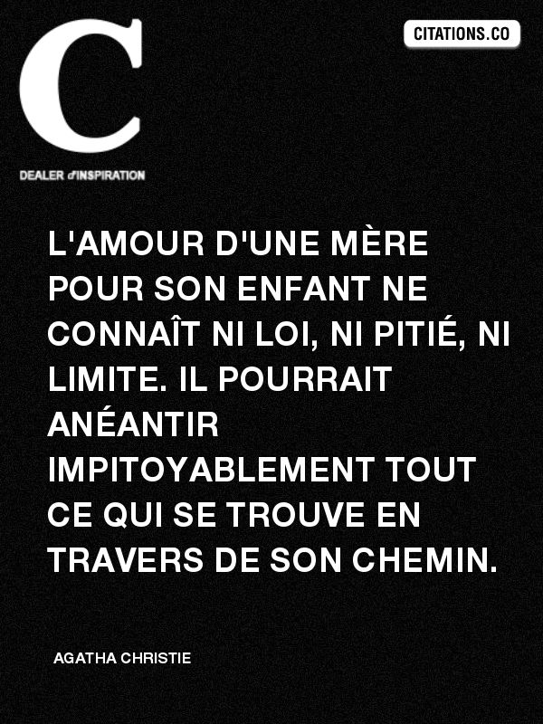 proverbe amour mere fils