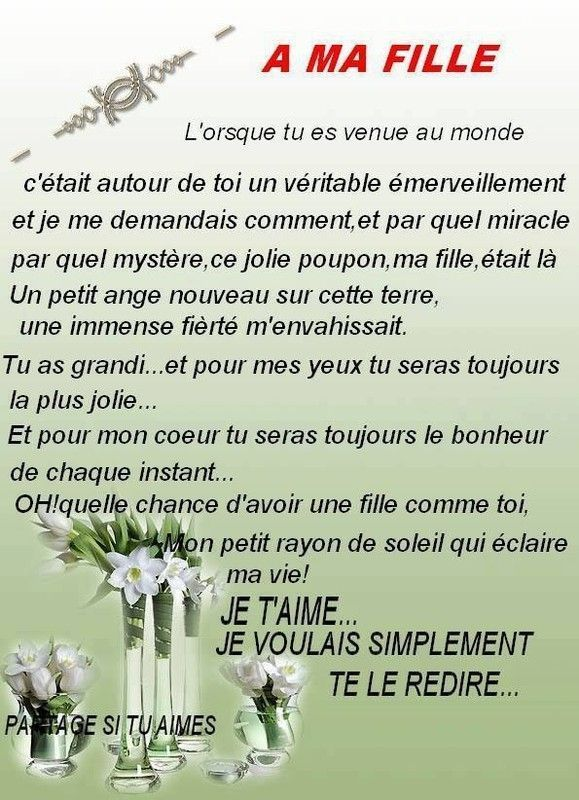 proverbe amour pour sa fille