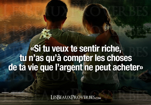 proverbe amour richesse