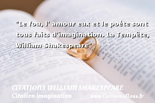proverbe amour shakespeare