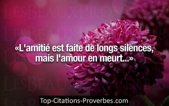 proverbe amour silence