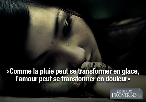 proverbe amour souffrance