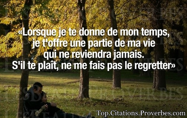 proverbe amour temps qui passe