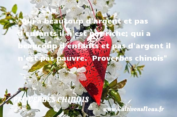 proverbe chinois argent