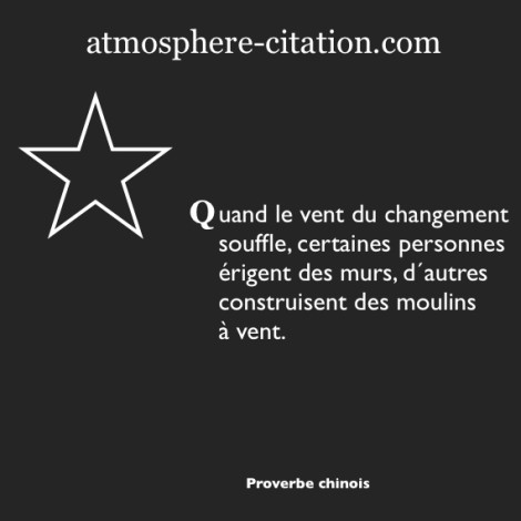 proverbe chinois changement