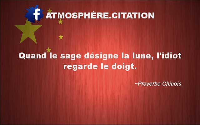 proverbe chinois doigt