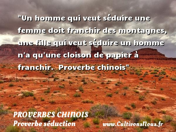 proverbe chinois homme femme
