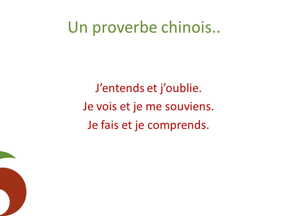 proverbe chinois j'entends j'oublie