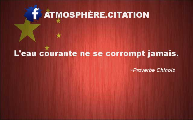 proverbe chinois l'eau courante