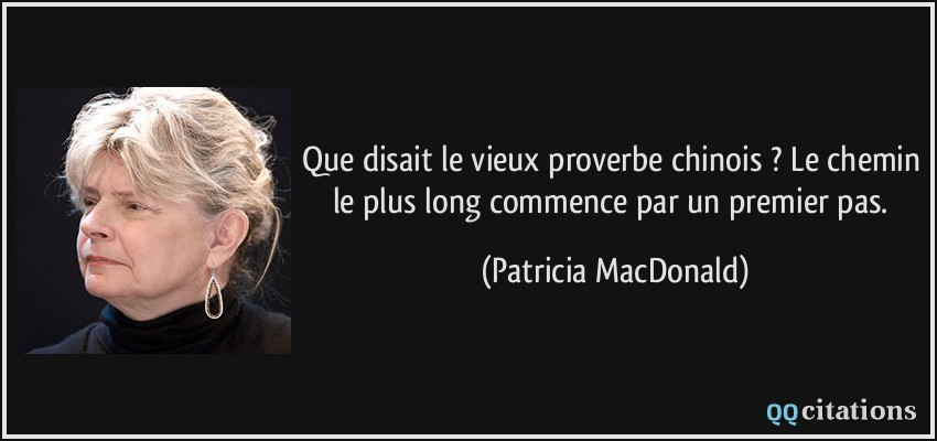 proverbe chinois long chemin