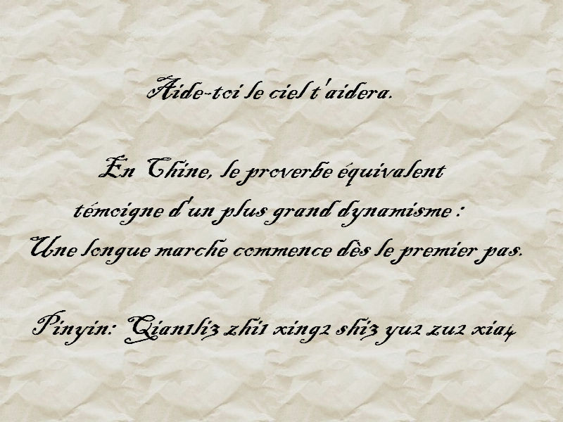 proverbe chinois management
