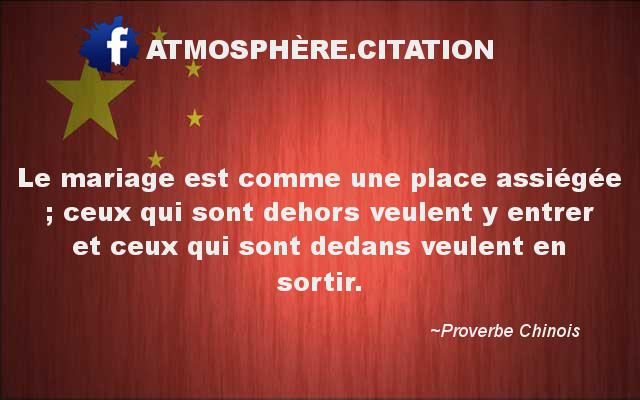 proverbe chinois mariage