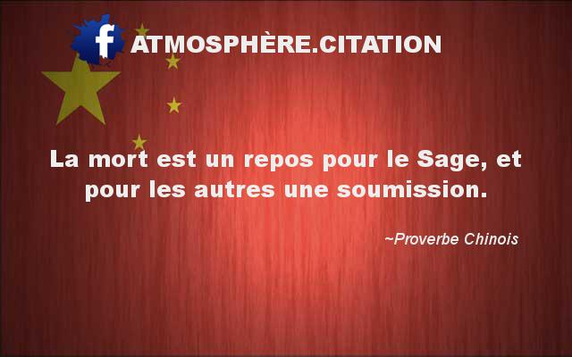proverbe chinois mort