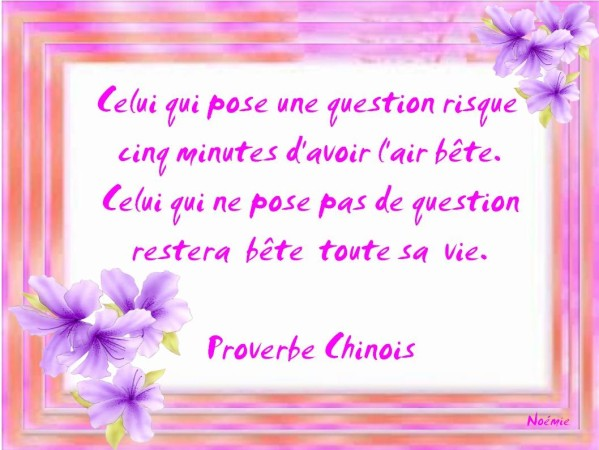 proverbe chinois perseverance