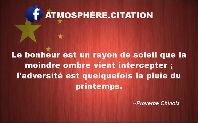 proverbe chinois pluie