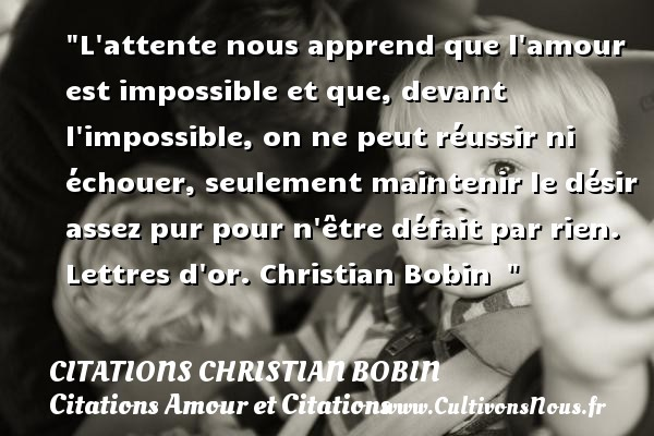 proverbe d'amour impossible