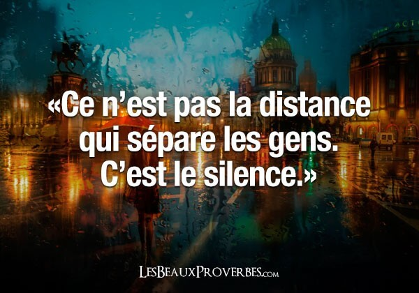 proverbe distance