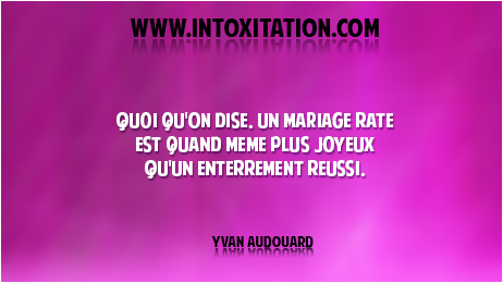 proverbe drole mariage