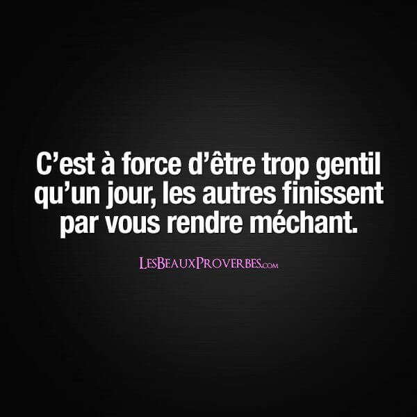 proverbe francais mechant