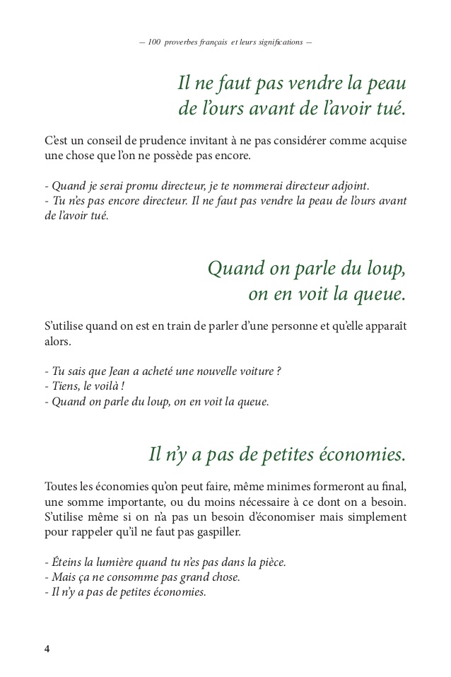 proverbe francais signification