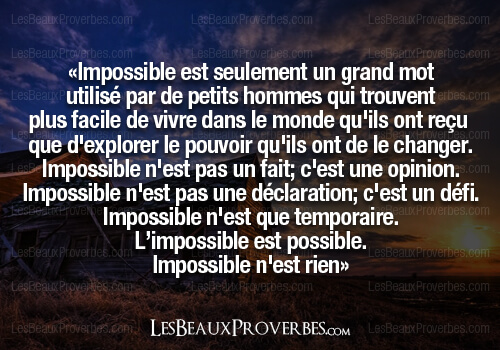 proverbe impossible