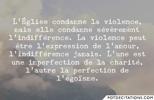 proverbe l'indifference