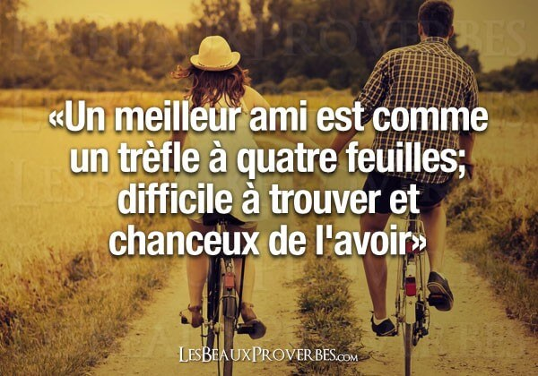 proverbe meilleure amie
